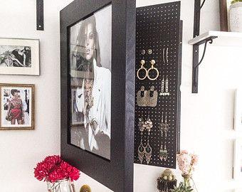 Wall Mounted Jewelry Organizer Photo Frame DIY Pinterest Wall