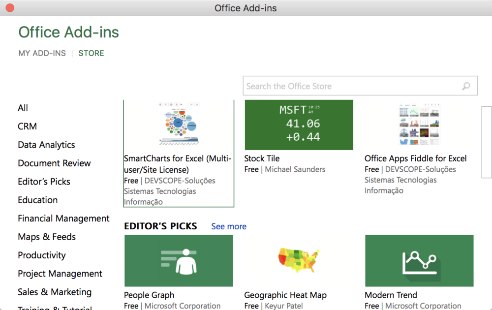 Big update to Microsoft Office 2016 for Mac includes Add-In