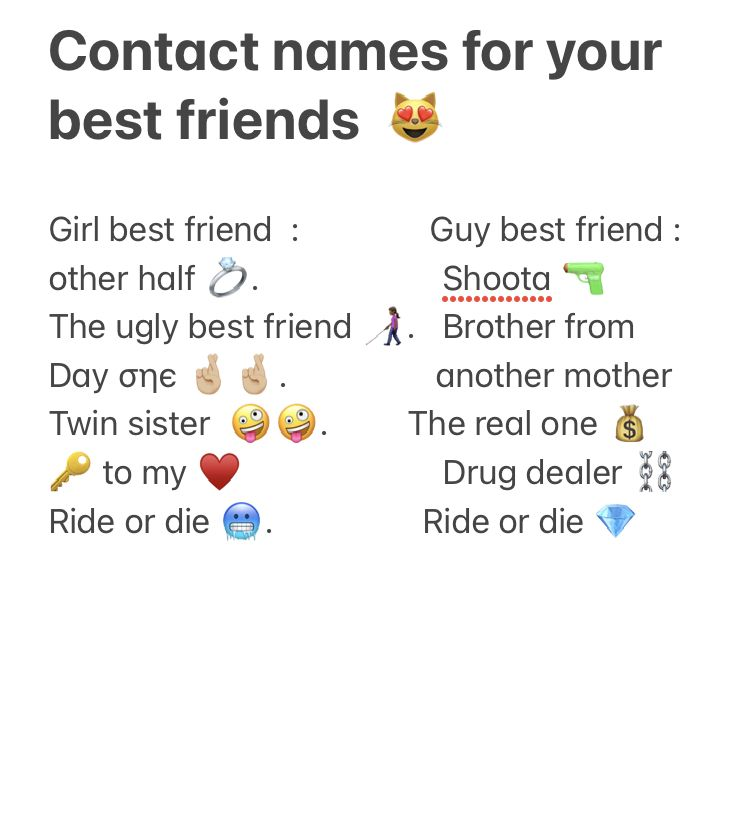 For Your Contact List Nicknames For Friends Guy Best Friend Group Names Ideas