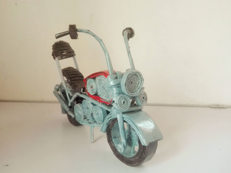 Paper Wicker Motor Bike Wicker Newspaper Crafts Decorative Items