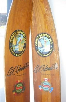 Cypress Gardens Lil Monster Slalom vintage Water Ski | Boats