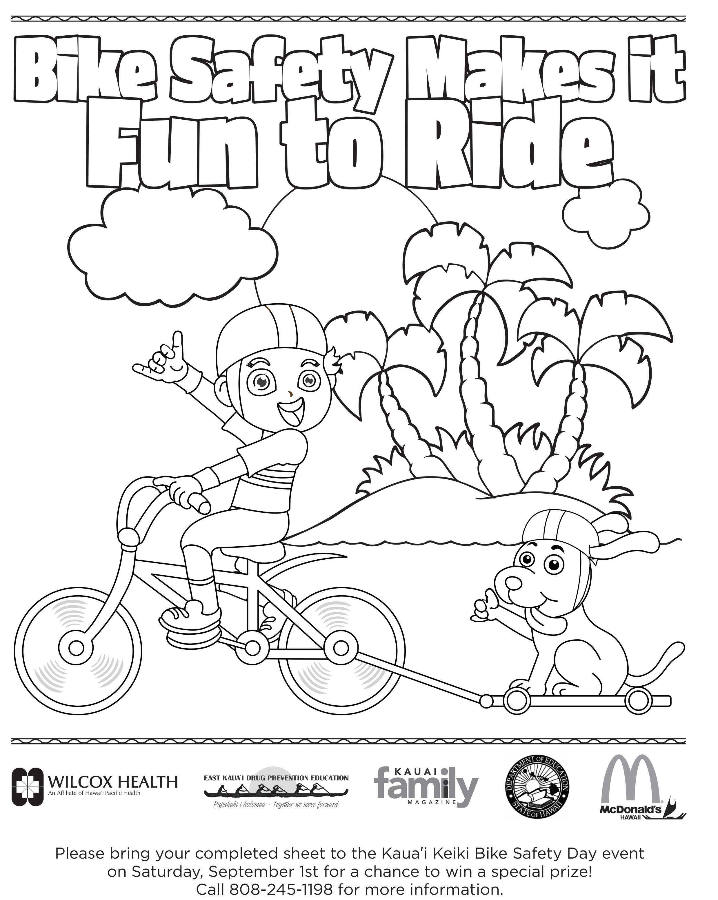 Bicycle Safety Coloring Pages 5 Free Printable Coloring Pages