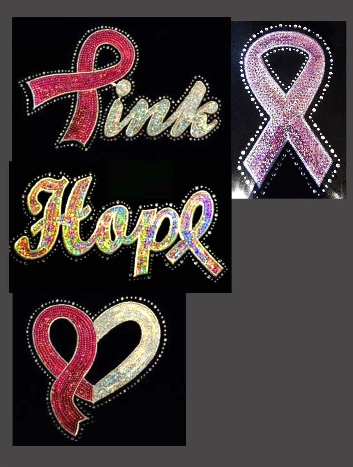 Hem Tape And Hot Fix Applicators 180928 Breast Cancer Pink Sequin