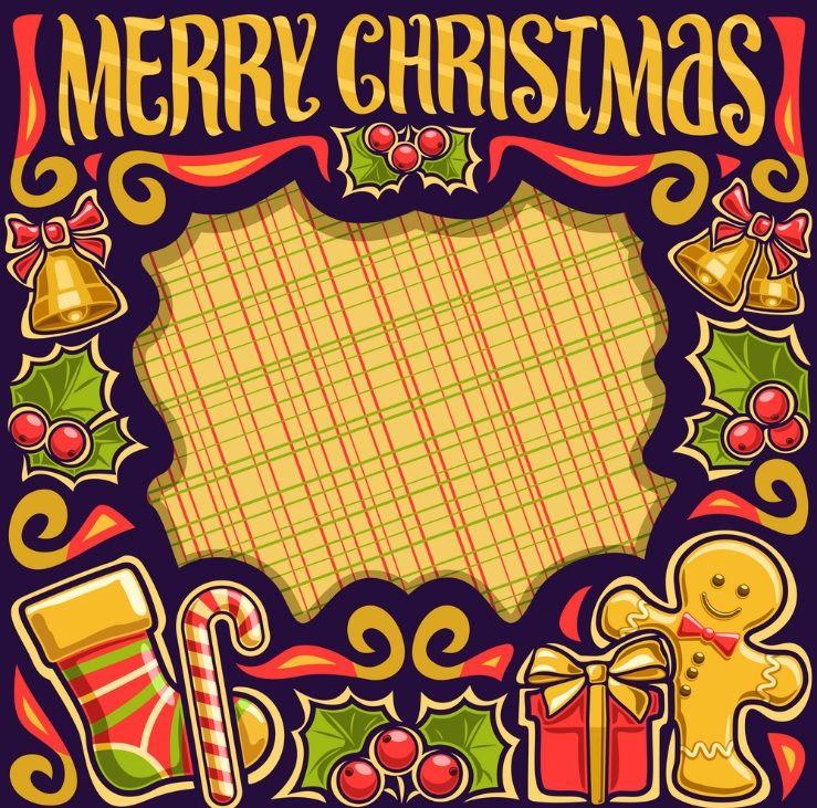 Pin by Mesc on FRAMES Merry christmas vector, Christmas