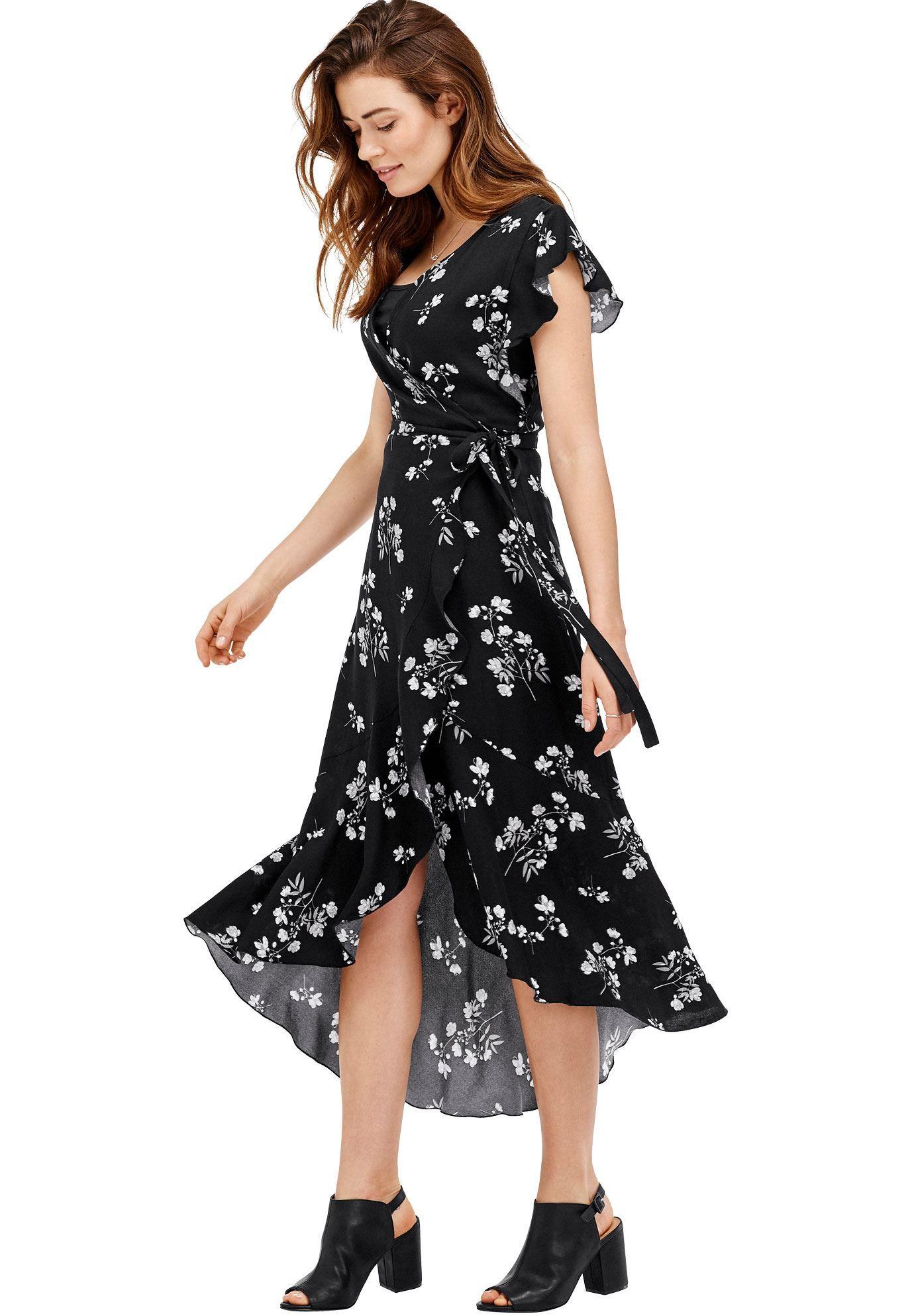 63895dd7eb Primrose Wrap dress by ellos - Women s Plus Size Clothing