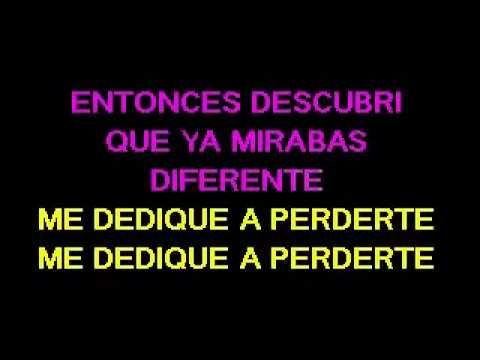 Me Dedique A Perderte Alejandro Fernandez Karaoke Youtube Karaoke Youtube Alejandro Fernández