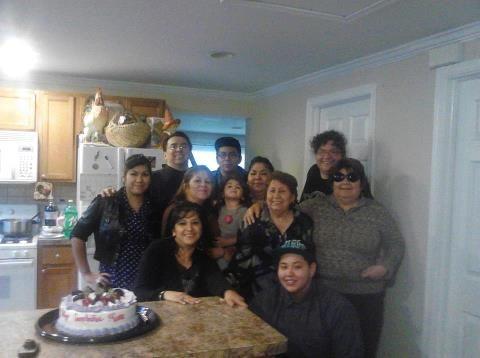 uncle  jesse  aunt linda  cousin josh niece  giselle  aunt  michelle   grandma linda  me cousin angie   mom  cousin jessica  celebrating   grandmas   birthday   yesterday <3