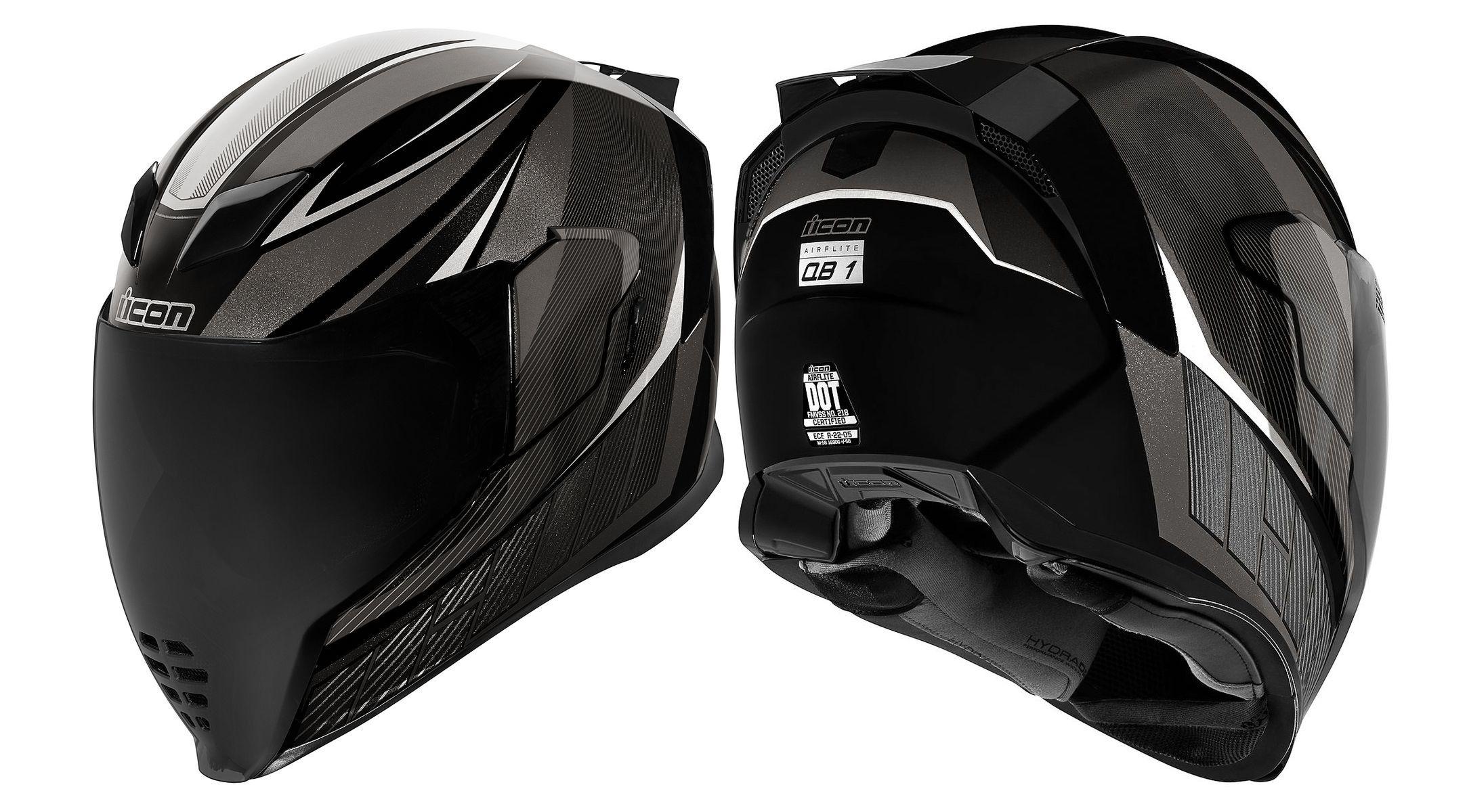 Icon Airflite Qb1 Helmet 285 Http Revzilla Com Motorcycle Icon Airflite Qb1 Helmet Motorcycle Icon Biker Accessories Motorcycle Helmets