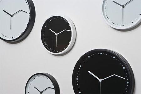 On Time Wall Clock Cool Wall Clock Features A Minute Hand Which Is Bent  Forward, Ideas