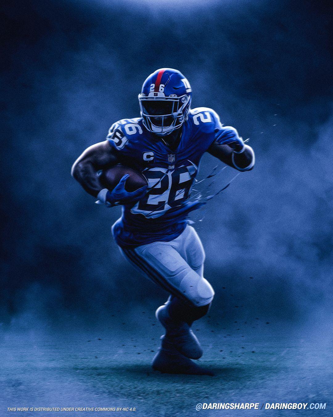 Saquon Barkley New York Giants Penn State Nittany Lions Ny Giants Football Nfl Football Art Nfl Football Pictures