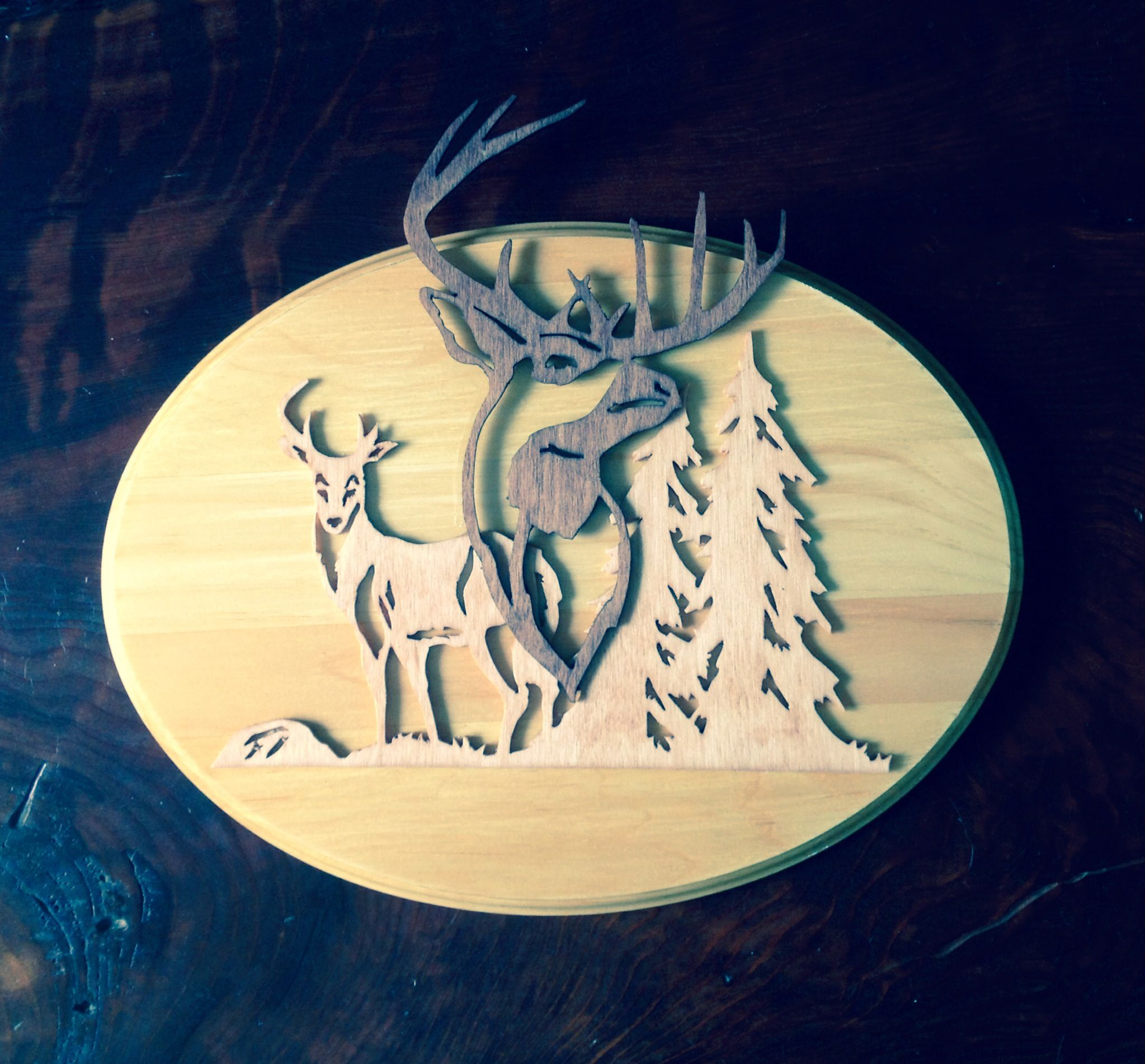 theses elk are scrolled out on a x plaque ready for your wall  theses elk are scrolled out on a 9 x12 plaque ready for your wall