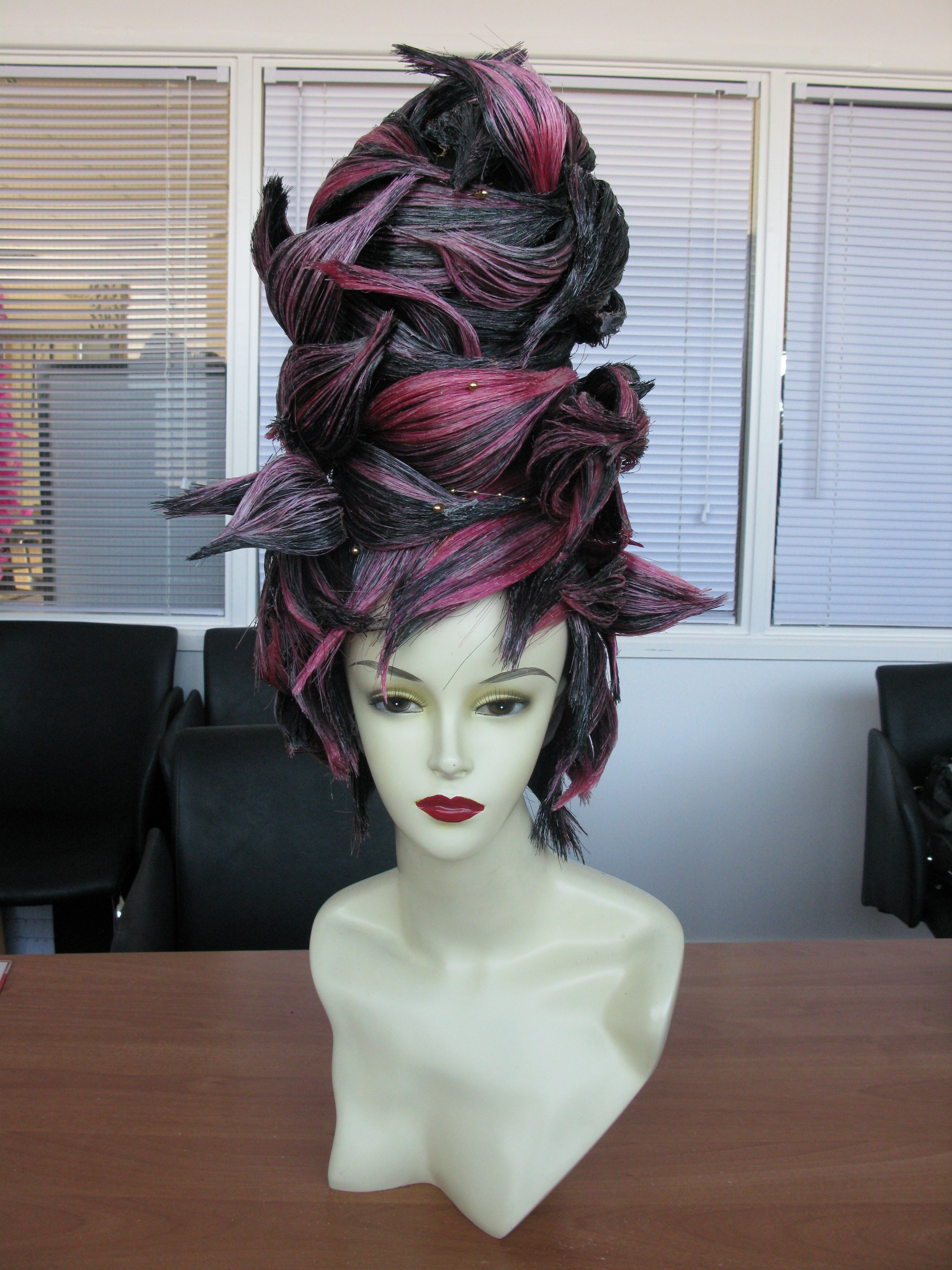Mannequin Fantasy Hair Mohh Academy Www Mohh Ie Competition Hair Hair Styles Artistic Hair