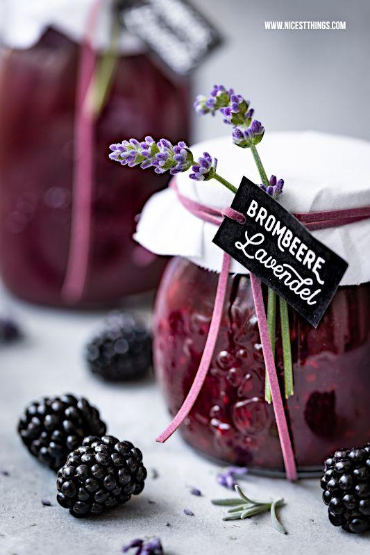 Brombeer Lavendel Marmelade: Konfitüre mit Brombeeren und Lavendelblüten als Geschenkidee – Nicest Things
