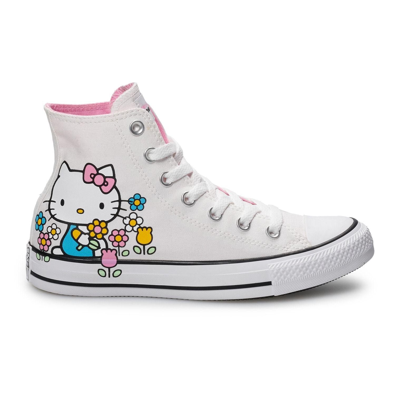 8fef8a413 Women's Converse Hello Kitty? Chuck Taylor All Star High Top Shoes #Kitty,  #Chuck, #Women, #Converse