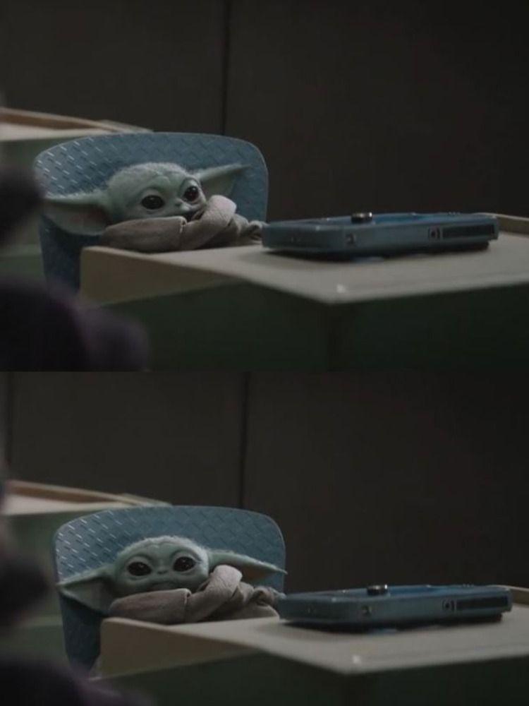 Baby Yoda in class