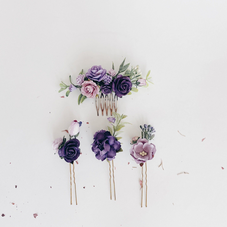 Blumenhaarnadeln, lila Haarblumen, Satz Haarnadeln, Brauthaarteil lila, lila Haarnadeln Haarkamm Hochzeit, Lavendelhaarteil -  Aufgeregt, die neueste Ergänzung zu meinem zu teilen #etsy Geschäft: Blumen Haarnadeln, Flieder H - #Blumenhaarnadeln #Brauthaarteil #Haarblumen #Haarkamm #Haarnadeln #Hochzeit #Lavendelhaarteil #lila #Lilachair #Satz #purpleweddingflowers