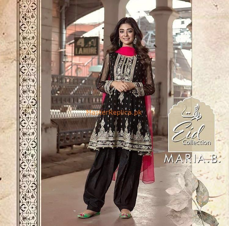 MARIA B Luxury Embroidered Chiffon Eid Collection Replica