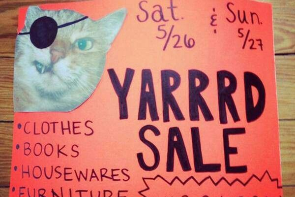 Pirate Cats On The Rise Yard Sale Signs Garage Sale Signs