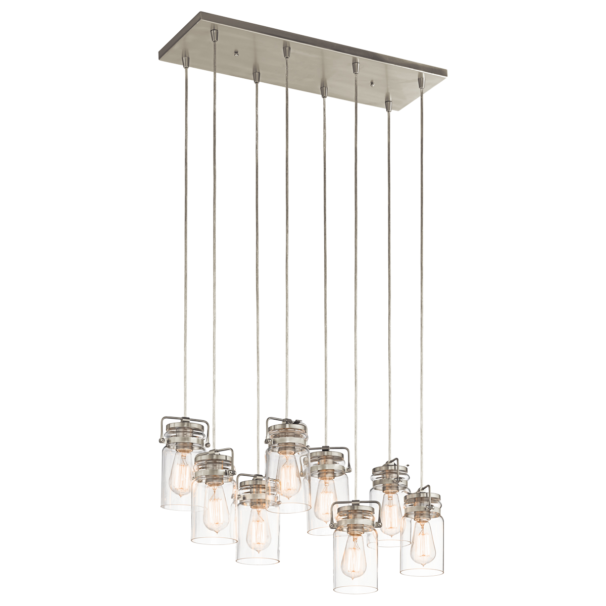 Brushed Nickel Dining Room Light Fixtures Brinley 8 Light Pendant  Brushed Nickel Dining Room  Home