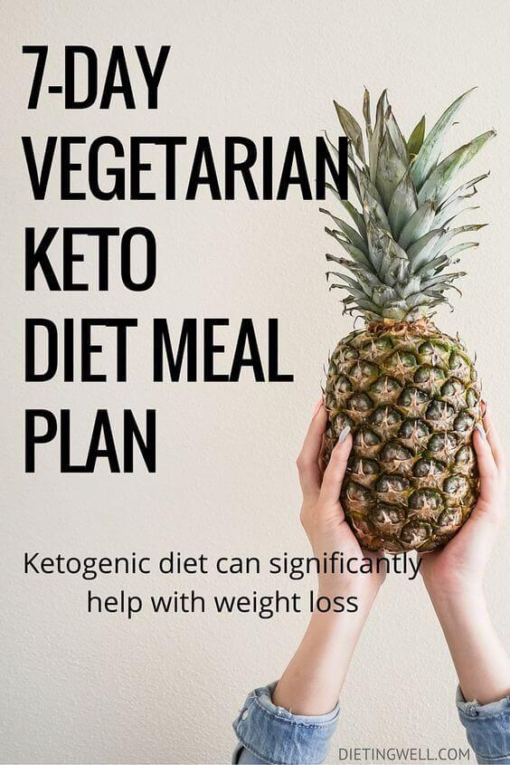 7 Day Vegetarian Keto Diet Meal Plan Menu Dietingwell Vegetarian Ketogenic Diet Keto Diet Meal Plan Low Carbohydrate Diet