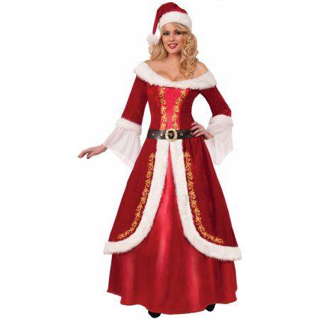 172aff2af4c0 Womens Premium Mrs Santa Claus Red Dress Christmas Holiday Costume - Walmart  .com Sc 1 St Pinterest