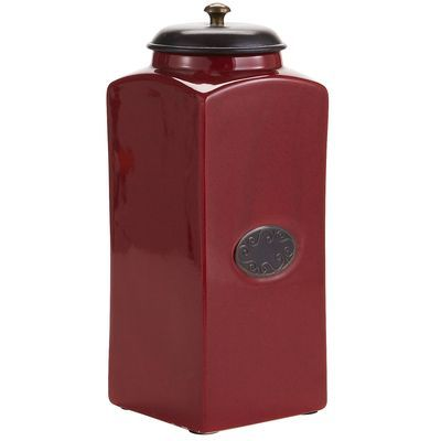 Red Ceramic Canisters---love these!