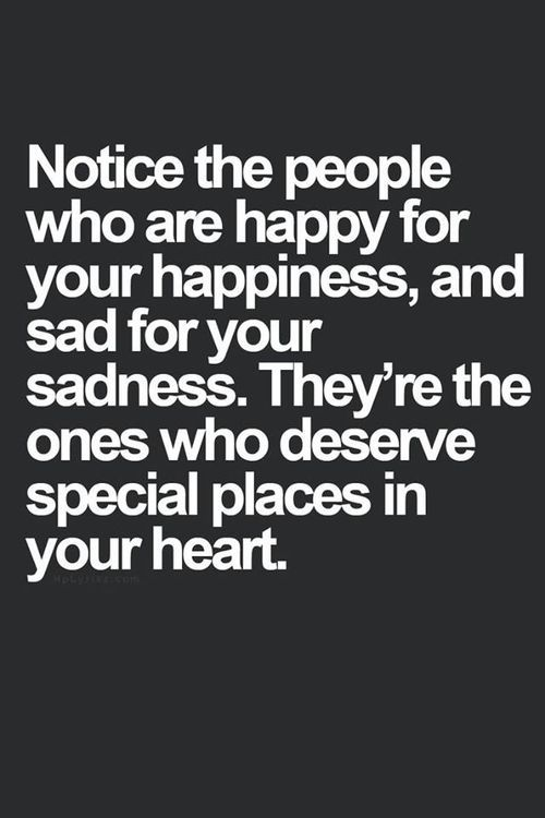Its Nice To Know That People Share Your Happiness And Sadness With