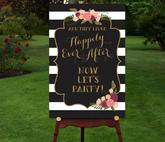 Funny Wedding Entrance Ideas: PRINTABLE Reception Sign Reception Entrance Let's Party