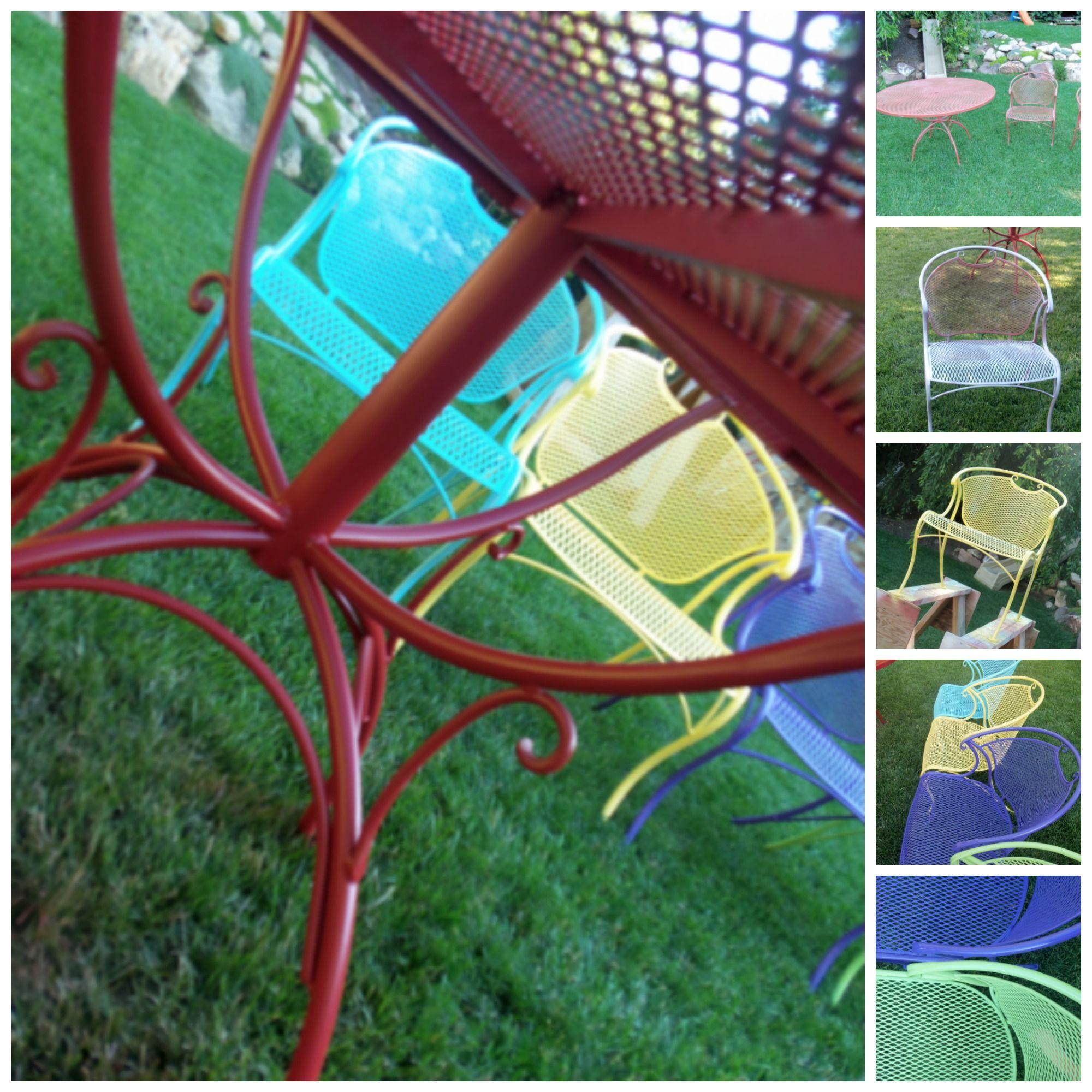 Spray Painting Wrought Iron Furniture   Iron furniture ...