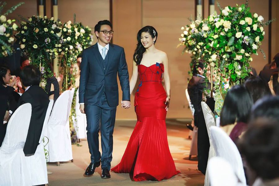 Red Wedding Gown By Singapore Based Time Taken To Make A Dress