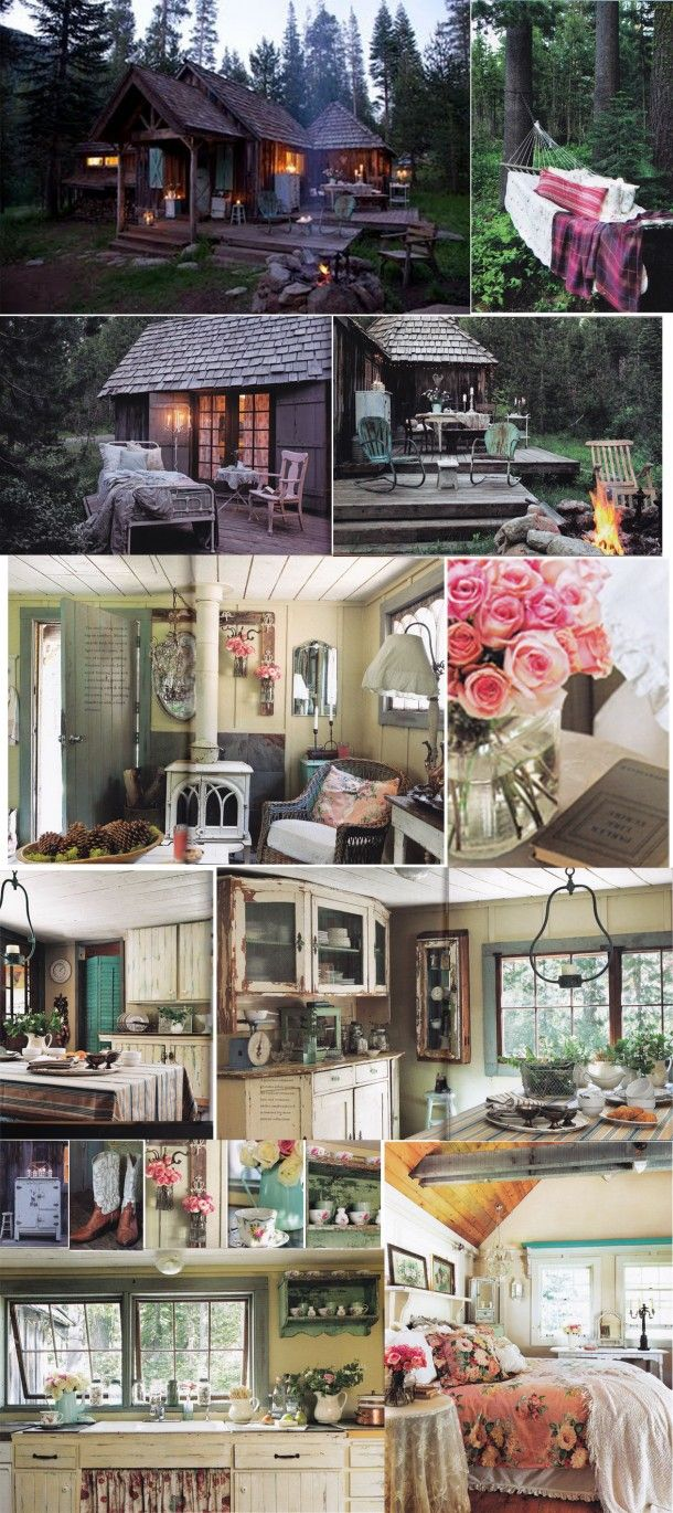 Romantic Prairie Style. Vintage homes, outdoor spaces, cabin chic