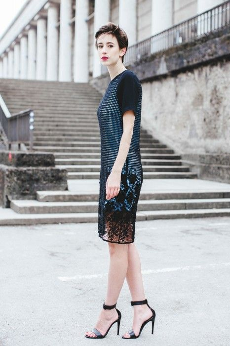 Lace Can Be Edgy Too Tibis Basia Lace Dress As Seen On The German