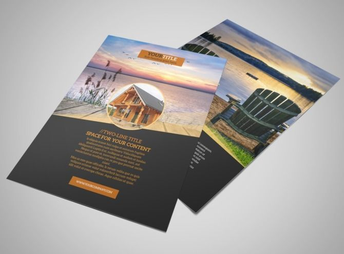 Lakefrontresortflyertemplatejpg Flyer Design - Free e brochure templates