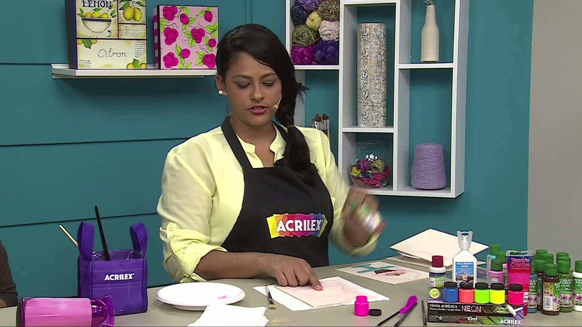 Acrilex - Programa Vida com Arte - Porta-panos de copa