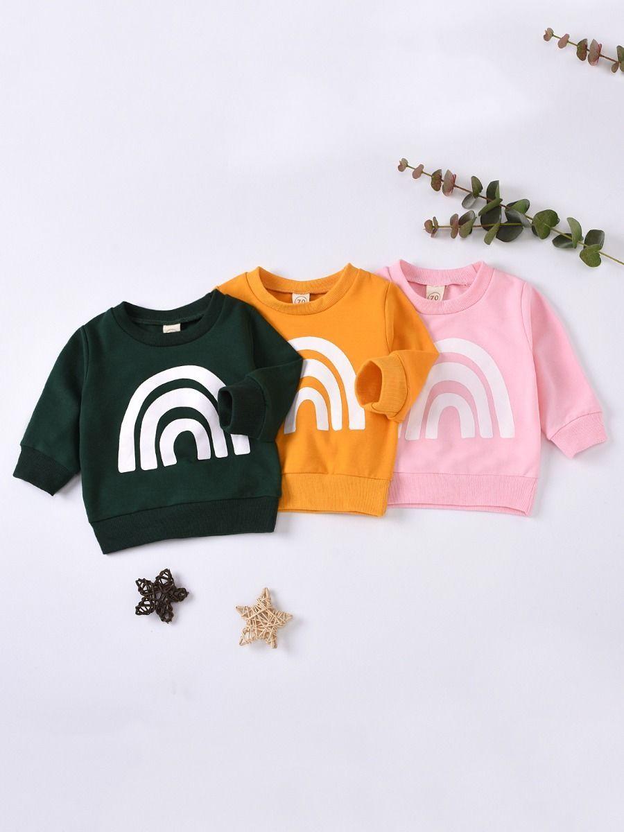 Infant Toddler Rainbow Print Cartoon Sweatshirt Cartoon Sweatshirts Wholesale Sweatshirts Top Baby Products [ 1200 x 900 Pixel ]