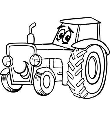 Coloring Pages Farmall Tractors. Tractor cartoon for coloring book on VectorStock  Isaiah