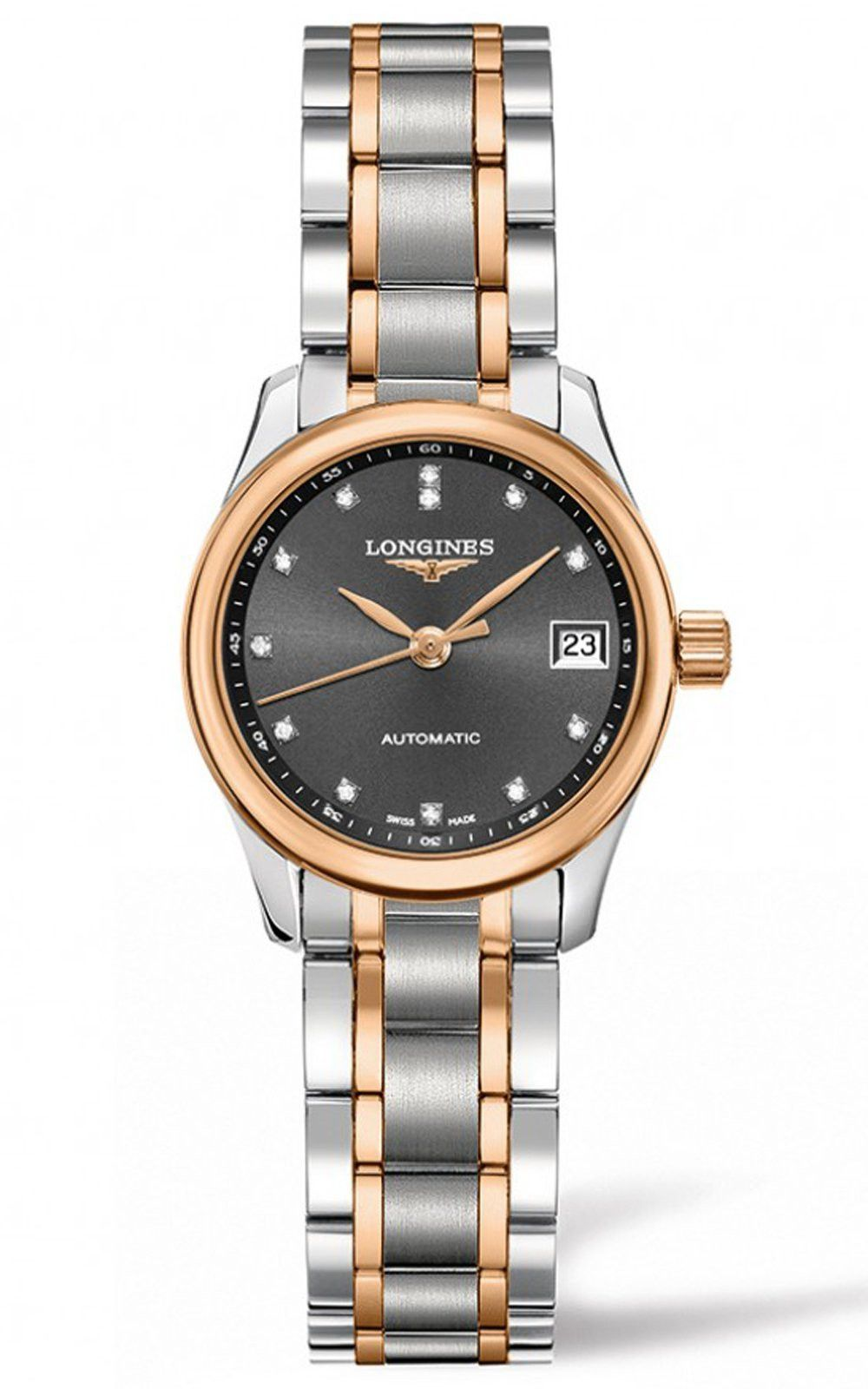 The Longines Master Collection Stainless/Gold 18K Automatic Ladies Watch L2.128.5.07.7, 25.5mm