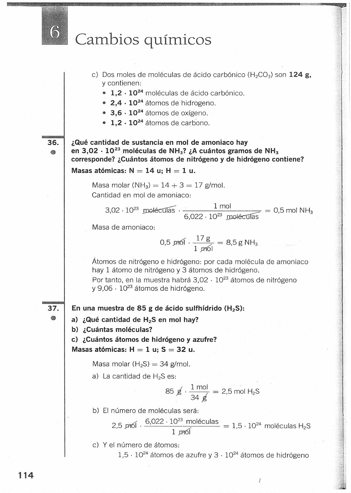 Solucionario Fisica Y Quimica 3 Eso Santillana Química Enseñanza De Química Clase De Química
