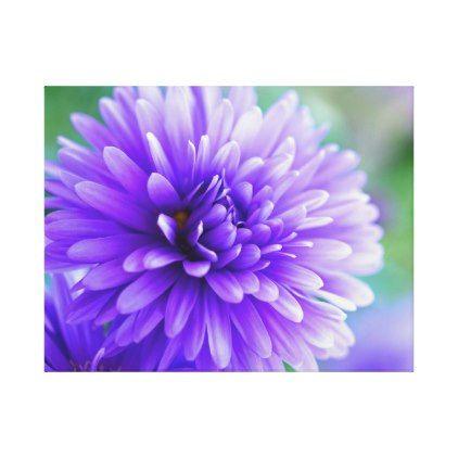 Purple Flower Color Canvas