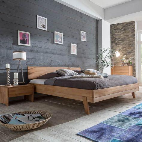 Bett Eidsberg 140x200 in Kernbuche massiv geölt Schlafzimmer - schlafzimmer kernbuche massiv
