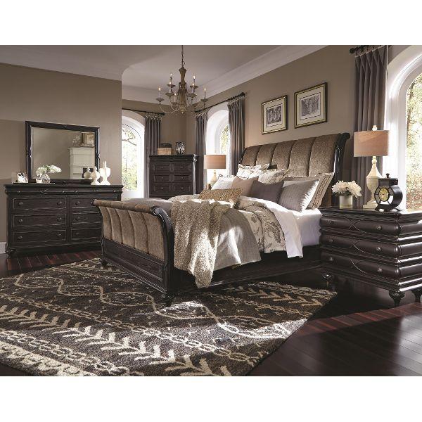 Hyland Park Vintage Black 6-Piece Cal-King Bedroom Set