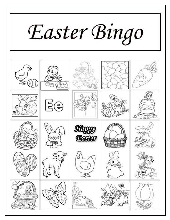Easter Bingo Game Easter Bingo Easter Preschool Easter Bingo Cards