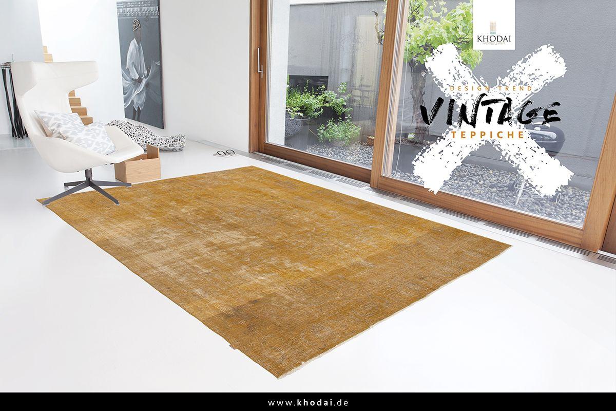 Vintage wohnzimmerteppich gold vintage carpets used look antik