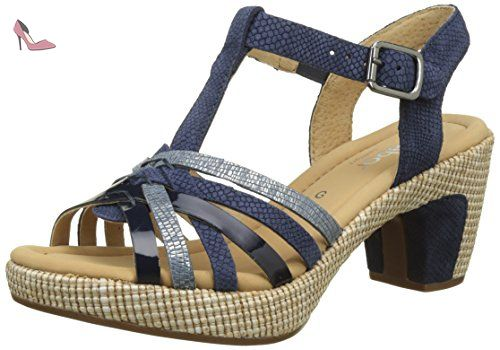 Gabor Shoes Comfort, Sandales Bout Ouvert Femme, Noir (Schwarz Bast), 38 EU