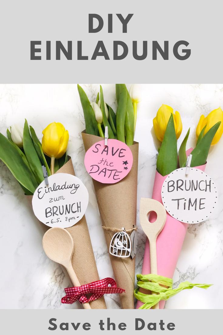 Ein Tolles Und Einfaches Diy Fur Einladungen Gutscheine Etc Super Wandelbar Und Vie Brunch Einladungen Muttertag Geschenke Basteln Selbstgemachte Einladungen
