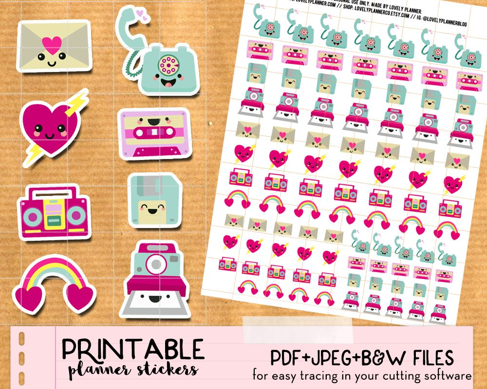 Kawaii Happy Mail Envelope Stickers FREE Printable