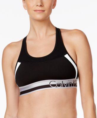 45c53eceafdf0 CALVIN KLEIN Calvin Klein Performance Colorblocked Medium-Impact Sports Bra.   calvinklein  cloth   tops