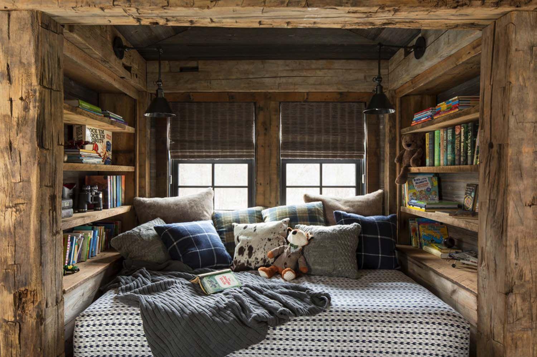 Rustic Lakeside Retreat In Wisconsin Features Inviting Design Details Modern Rustic Bedrooms Cabin Bedroom Decor Rustic Bedroom