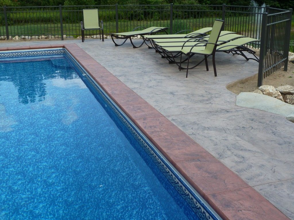 Pool Bremen Concrete Pool Decks Concrete Impressions Pool Deck