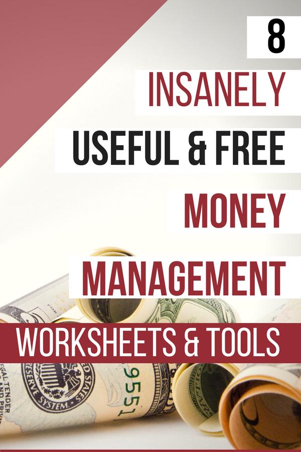 8 insanely useful free money management worksheets tools money printables pinterest. Black Bedroom Furniture Sets. Home Design Ideas